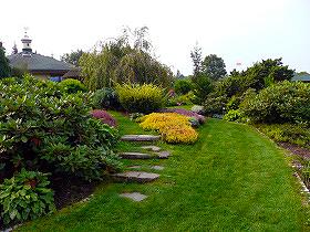 Schody v záhrade